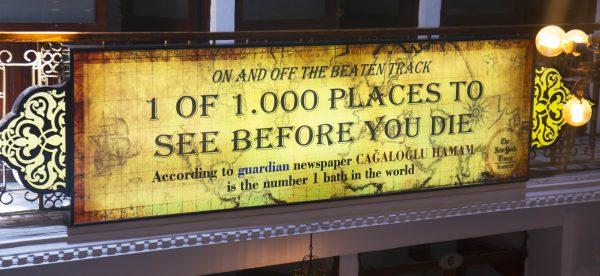 ölmeden önce görülmesi gereken 1000 yer, cağaloğlu hamamı
