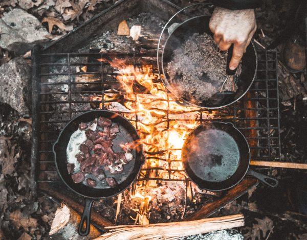 kamp, yemek, ateş